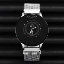 OOZOO Smartwatch Q00116 Mesh zilverkleurig met o.a. Hartslagmeter 43 mm