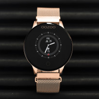 OOZOO Smartwatch Q00117 Mesh rosekleurig-zwart o.a. Hartslagmeter 43 mm