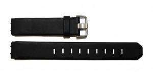 Jacob Jensen 700 serie 17mm zwart siliconen horlogeband